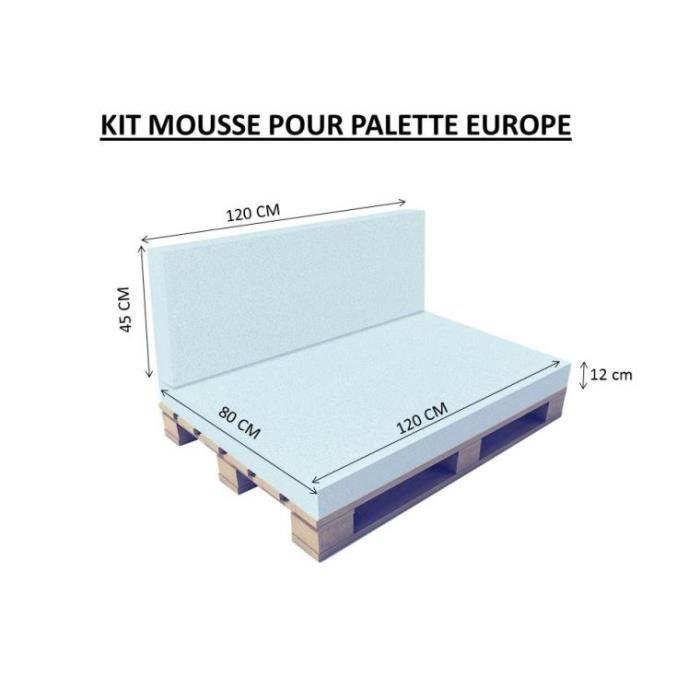 kit mousse pour palette EUROPE 12 cm Couleur Par Défaut