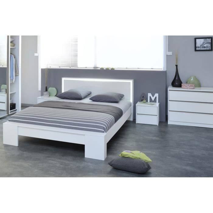 Chambre compl te weston lit design 180 cm tab achat for Lit design complet