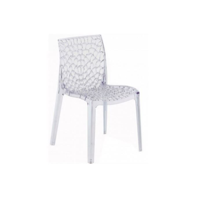 chaise lot de 2 chaises empilables gruvyer transparentes - Chaise Polycarbonate Transparente