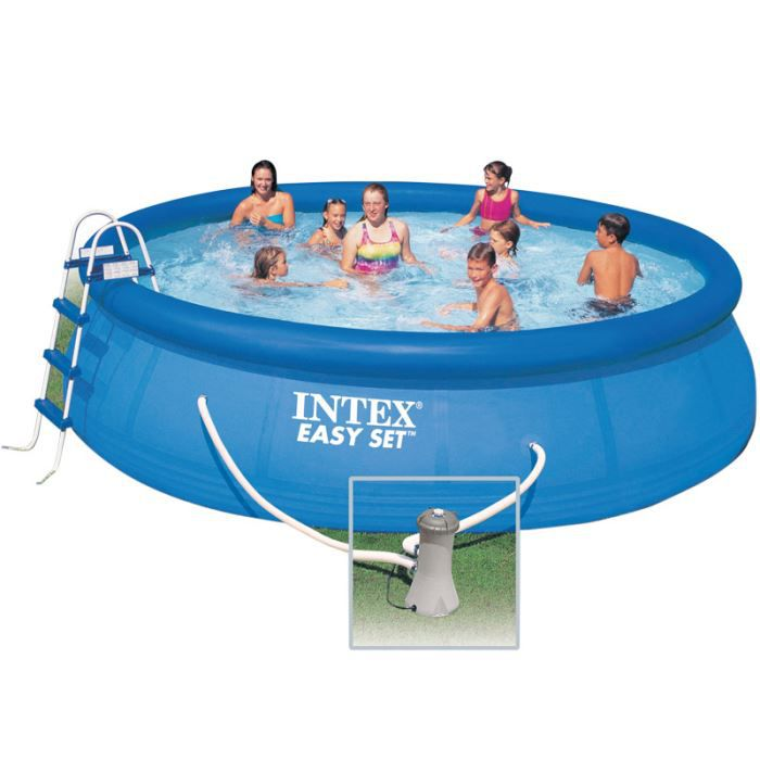Intex piscine ronde autoportante x m achat for Piscine ronde intex