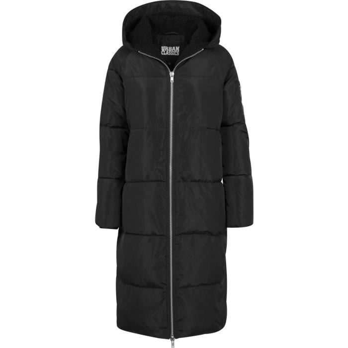 Oversized Ladies Classics Manteaux Puffer Hooded Noir Urban gAUqEw5