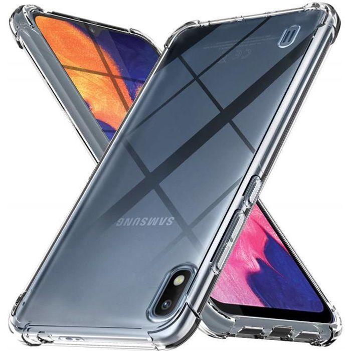 HUIZHIHUA Housse Compatible pour Coque Samsung Galaxy A01 Case Anti-Choc Cuir avec Magnetique Premium Flip Anti-Rayures /Étui Protection Support Portefeuille Slots Pare Chocs-Bleu