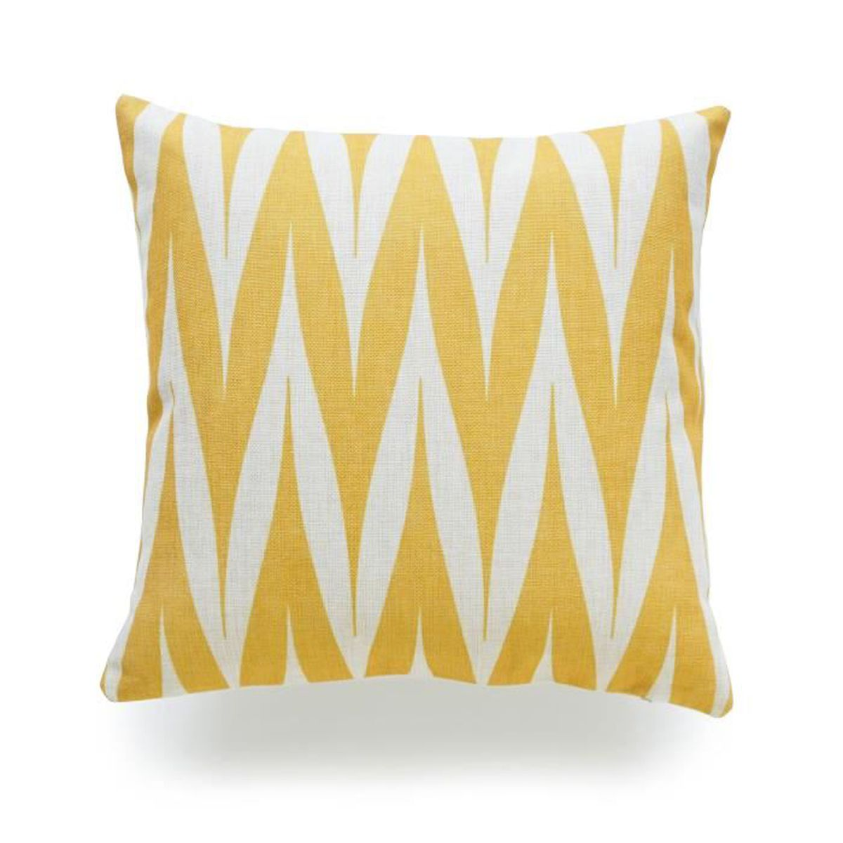 hofdeco housse de coussin d coratif moutarde jaune g om trique tribal zigzag pointe jaune coton. Black Bedroom Furniture Sets. Home Design Ideas