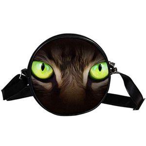 SAC À MAIN Cartable VCX09 yeux CAT ronde Sacs à bandoulière b