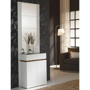 meuble d entree blanc laque achat vente meuble d. Black Bedroom Furniture Sets. Home Design Ideas