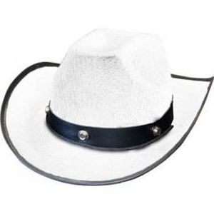 CHAPEAU - PERRUQUE Cow-Boy Luke Enfant - Blanc