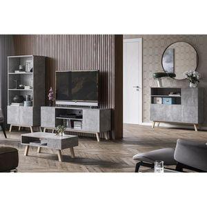 MEUBLE TV Ensemble salon - VERO BOIS - meuble TV + table de