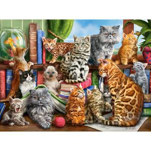 PUZZLE Castorland House of Cats, Jigsaw puzzle, Animaux,