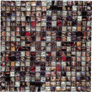 CARRELAGE - PAREMENT Mosaïque en pate de verre et carrelage  Mix 30 x 3