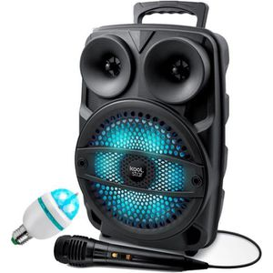 ENCEINTE ET RETOUR Enceinte Karaoke SONO DJ KoolStar autonome Mobile