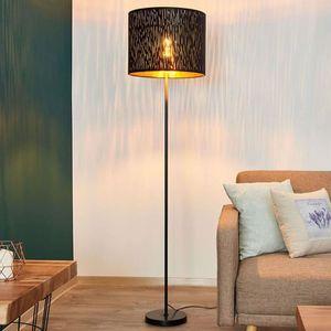 LAMPADAIRE Lampadaire Tissu 'Jules' en textile pour salon & s