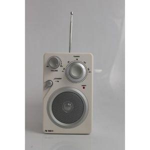 RADIO CD CASSETTE Radio FM Analogique blanche Deluxe Blanc