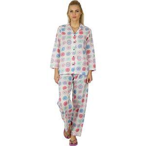 Superbe Femmes Pyjama Pyjama dans les tailles 34 36 38 40 42 XS S M L Chemise de nuit