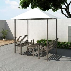 TONNELLE - BARNUM Pavillon de jardin avec table et bancs 2,5 x 1,5 x