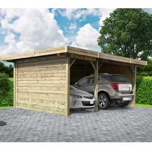 ABRI JARDIN - CHALET Carport 5064 x 7064 mm avec 3 parois    H  5064 x