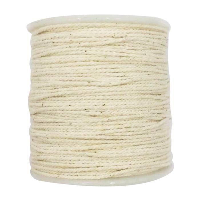 CHAINE DE COU VENDUE SEULE 1 corde de coton de rouleau