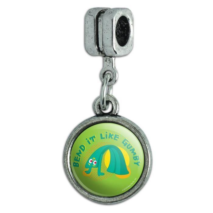 Bracelet Q93PN Pliez-le comme Gumby Yoga Gym entraînement aérobique de Style européen italien perle de charme