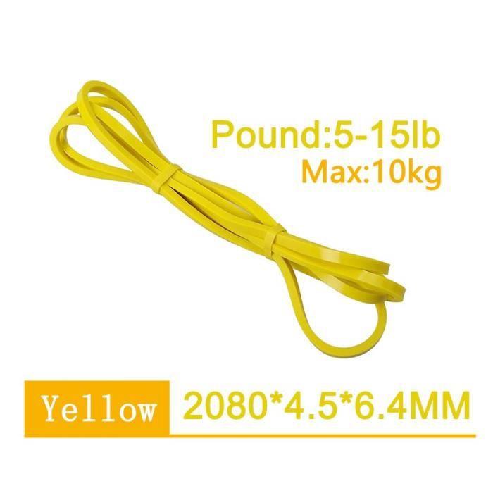2080mm suspendus sangle d'entraînement bandes de Fitness élastiques Yoga Crossfit tirer v - Modèle: Yellow Max 10kg - HSJSTLDC05981