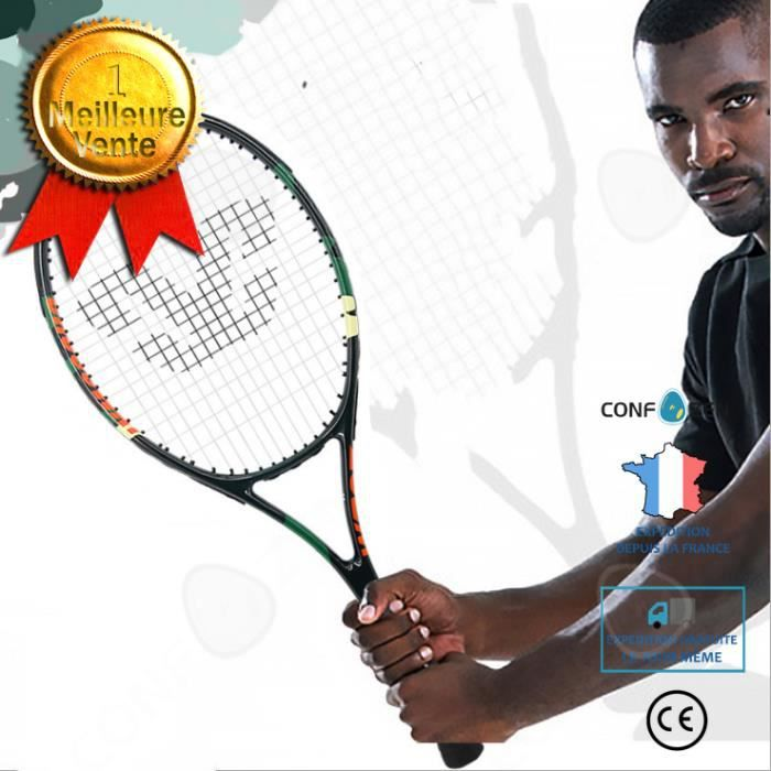 CONFO® Raquette de tennis simple double combinaison de débutant en alliage d'aluminium