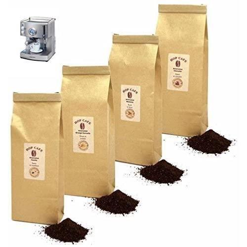 Offre Découverte 4 x 125g cafés moulus aromatisés pour Machine Expresso