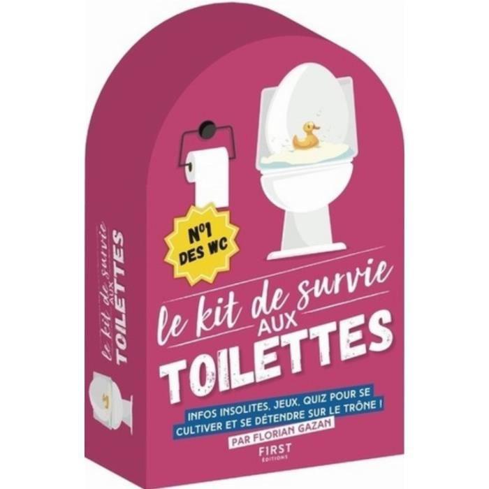 Le kit de survie aux toilettes. Le petit livre pour se tester aux toilettes Citations à méditer aux toilettes Le petit livre