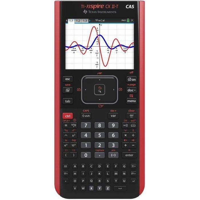 Calculatrice graphique Texas Instruments TI-Nspire CX II-T CAS Noir et Rouge - Pour le lycée et le supérieur