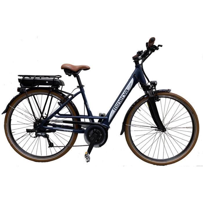 Vélo Bosch - Assistance électriques - Roue 28- - MINERVA - Femme - Bleu