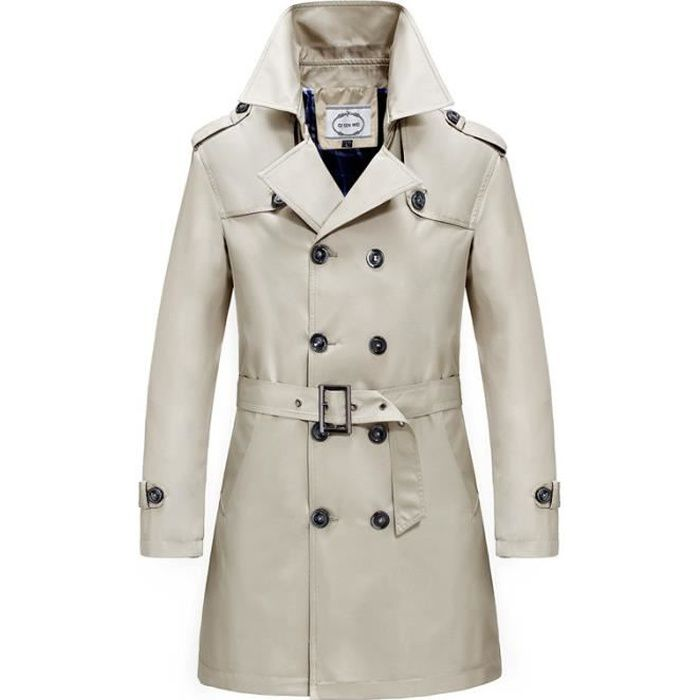 Trench Homme Trench-Coat Corset Double Boutonnage