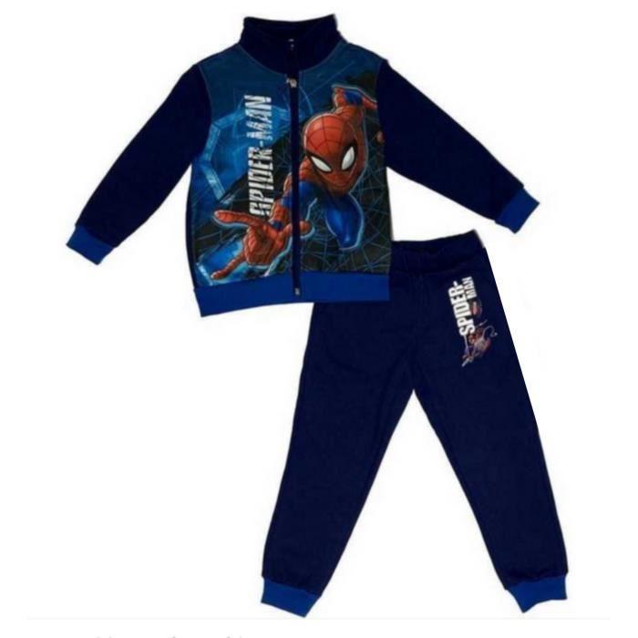 bleu jogging Spiderman enfant bleu