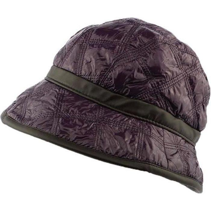 Chapeau de Pluie femme Violet par Nyls Création modèle Eleo - Cloche automne hiver en tissu matelassé coloris tendance