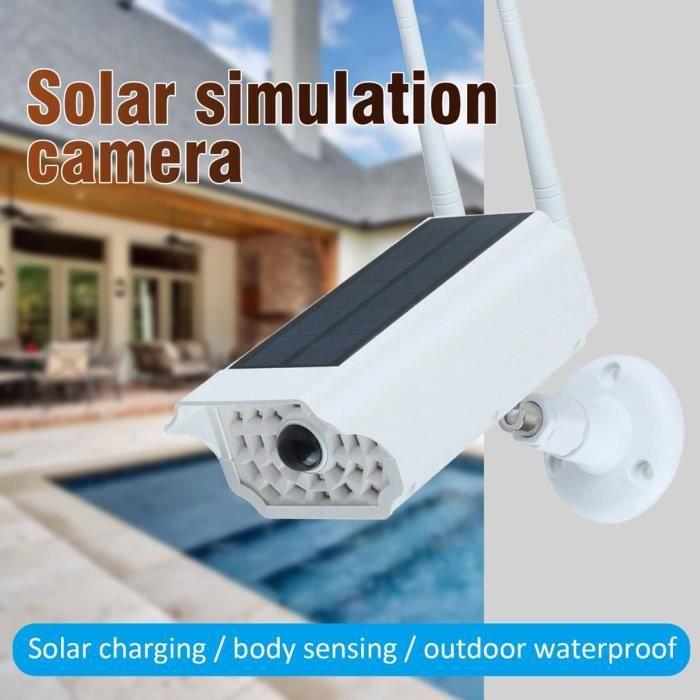 Advance-Caméra Moniteur Caméra Factice À Énergie Solaire Haute Simulation Cctv Fausse Caméra Clignotant Led Lumière Rouge