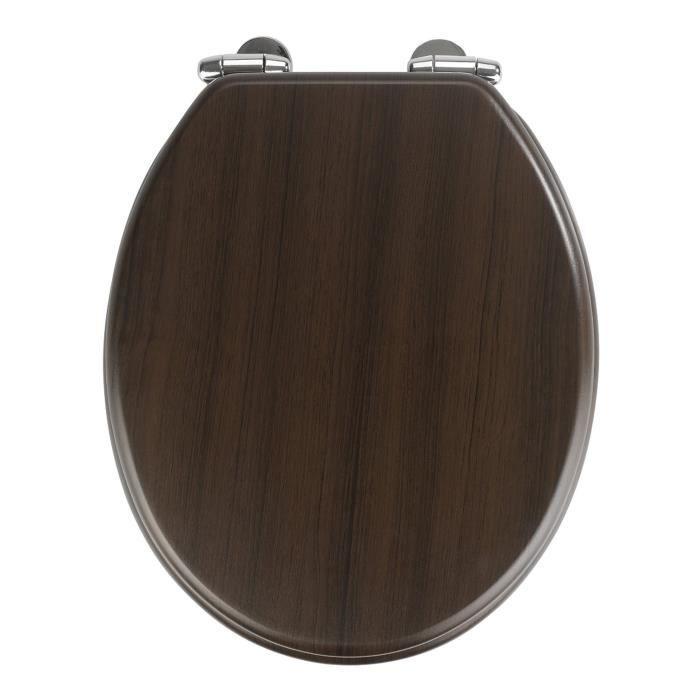 Abattant WC Wenge-Dim : 35,5 x 42,5 cm
