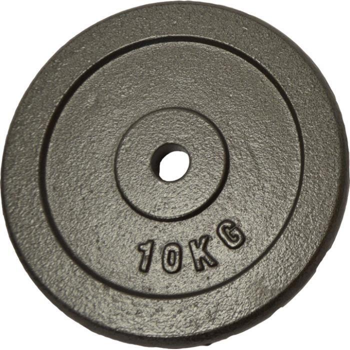 Poids disque en fonte 10 kgs Sporti France - noir - TU
