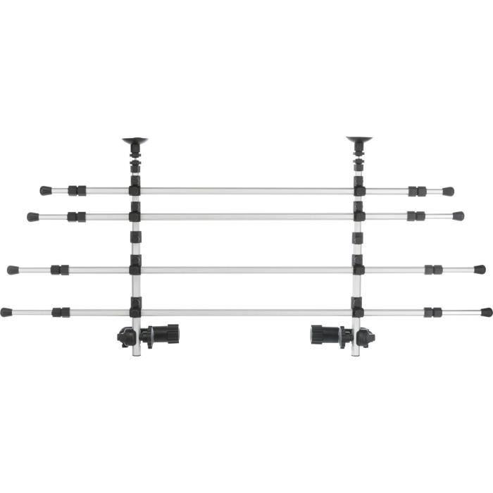 TRIXIE Grille de séparation voiture - L 105–172 cm - H 46–60 cm - Argent et noir - Pour chien