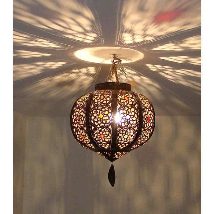 lustre lampe marocain 30cm m tal cisel plafonnier maroc. Black Bedroom Furniture Sets. Home Design Ideas
