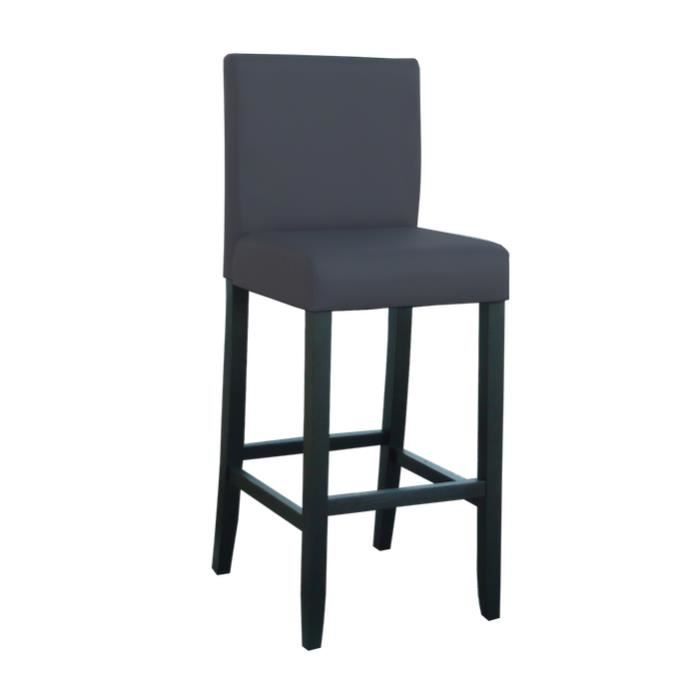 tenval tabouret de bar gris achat vente tabouret de. Black Bedroom Furniture Sets. Home Design Ideas