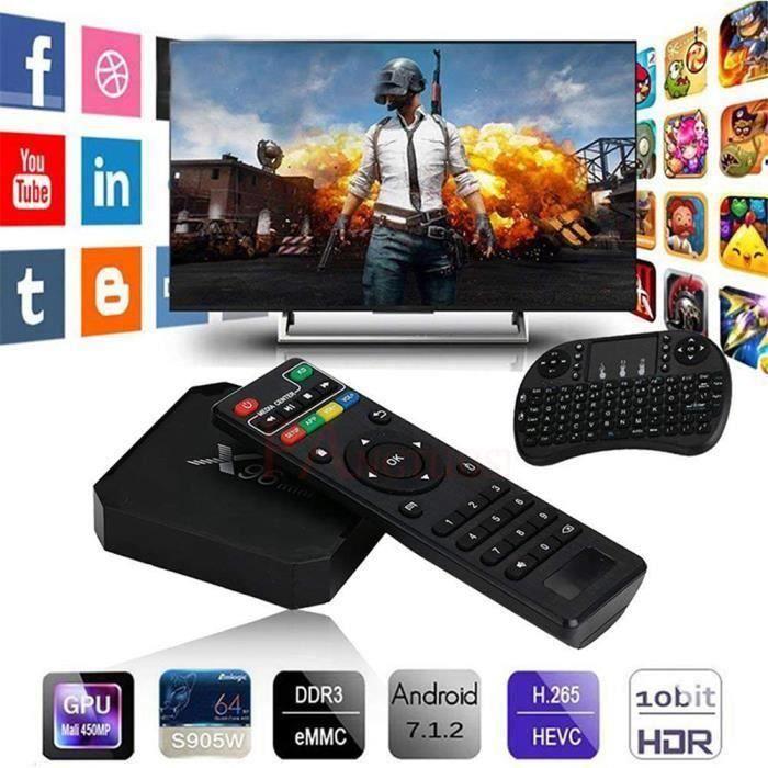 BOX MULTIMEDIA X96 mini TV Box Android 7.1 HD 4K Décodeur réseau