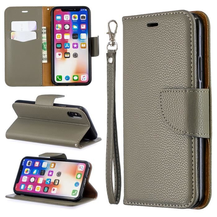 Coque Apple iPhone X Gris étui de téléphone d'affa