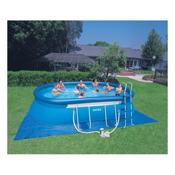 Piscine autostable ovale ellipse intex x 3 achat for Piscine autostable