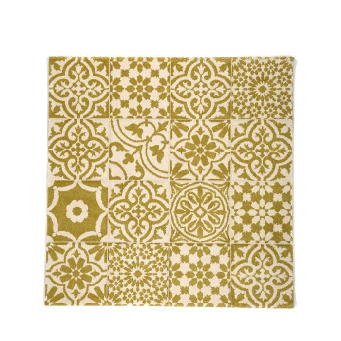 benuta tapis patchwork mosaico jaune 150x150 cm achat. Black Bedroom Furniture Sets. Home Design Ideas