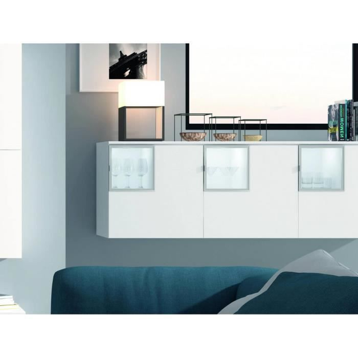 meuble 3p 3 cubes finition blanc. Black Bedroom Furniture Sets. Home Design Ideas
