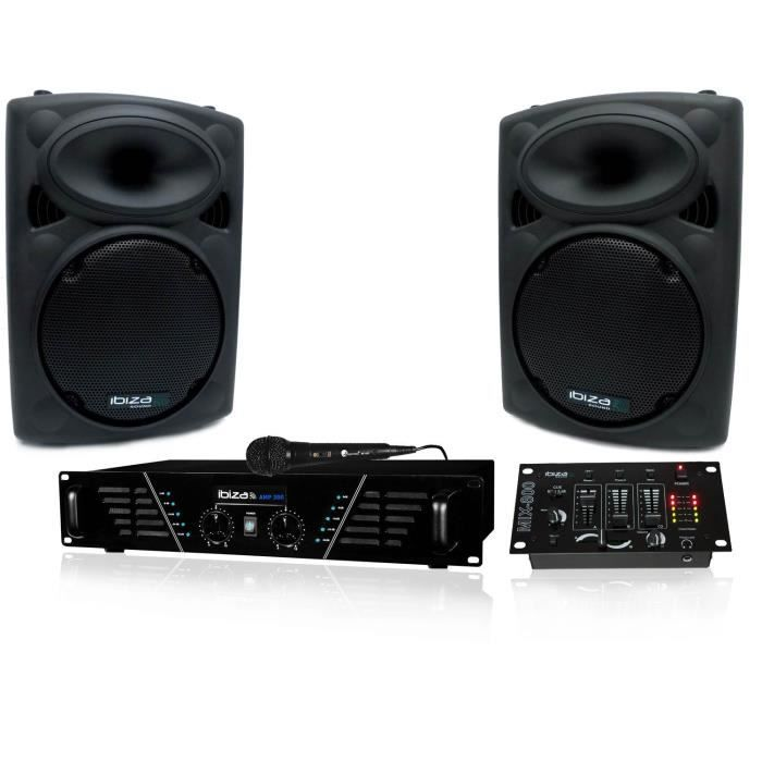 pack sono dj300 mkii amplificateur 2 x 240w hp pack sono avis et prix pas cher cdiscount. Black Bedroom Furniture Sets. Home Design Ideas