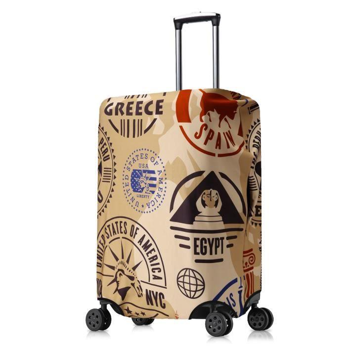 Housse de protection valises Taille XL dessin carte du monde Luggage cover