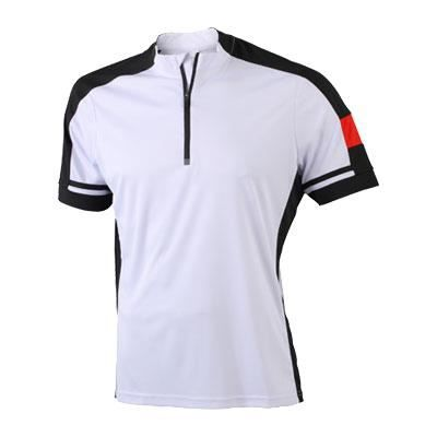 maillot cycliste homme petit zip blanc blanc blanc achat vente maillot polo de sport. Black Bedroom Furniture Sets. Home Design Ideas