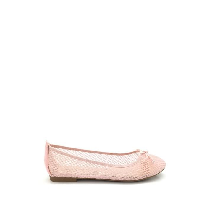 CHIC NANA . Ballerine àtulle brillant, bout rond en couleur Or 40