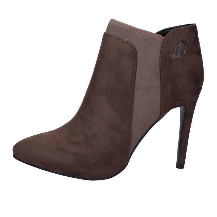 Braccialini Femme Daim Chaussures By992 Marron Bottine XuPikZ