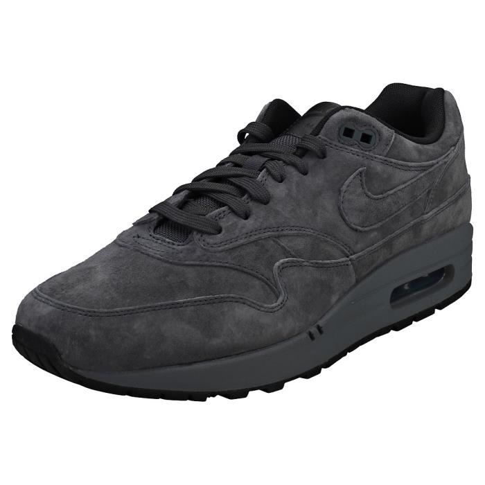 huge selection of 727b1 89fd0 BASKET Nike Air Max 1 Premium Homme Baskets Anthracite