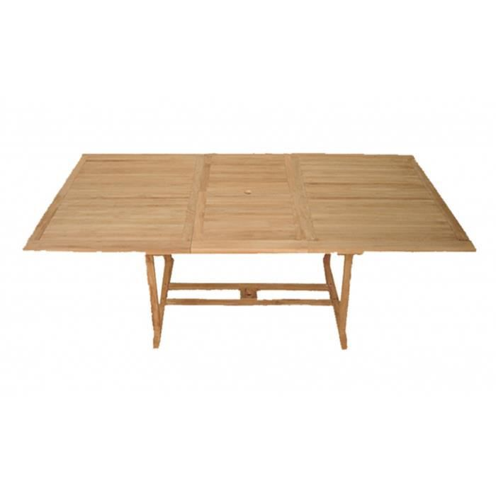 Table rectangulaire extensible en teck 180 240 x 120 x 75 for Table 120 cm extensible