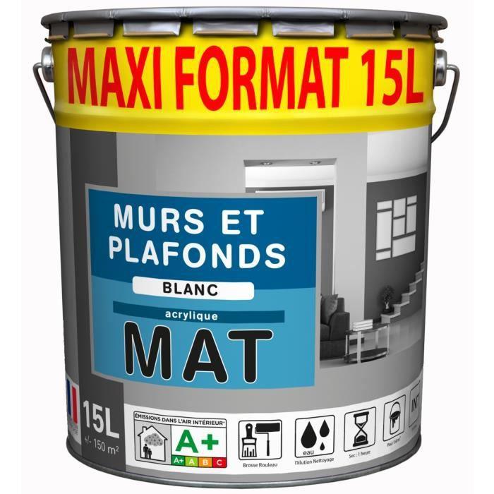 Palette 33 pots 15L Peinture blanc MAT Acrylique - Achat / Vente peinture - vernis Palette 33 ...