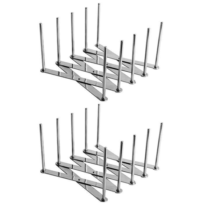 Supports De Couvercles En Acier Inoxydable Extendable Porte Couvercle Pot Polyvalent Steamer Rack Support R/églable En Acier Inoxydable Pour Couvercles De Casseroles Et Plats /à Vapeur Longueur R/églable
